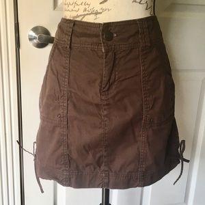Dark Brown mini skirt by Maurice's